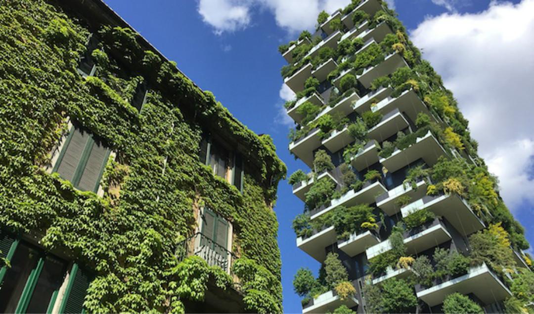 意大利米兰垂直森林公寓,摩天大楼与绿色植被完美搭配,堪称人与自然